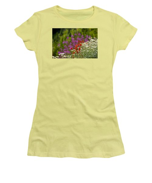 Women's T-Shirt (Junior Cut) featuring the photograph Cascade Wildflowers by Sean Griffin