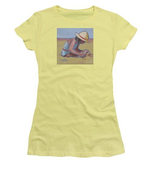 Castle Builder Beach Sand Castle Women's T-Shirt (Junior Cut) by Mary Hubley
