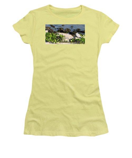 Causeway Shore Blues Women's T-Shirt (Junior Cut) by Ecinja