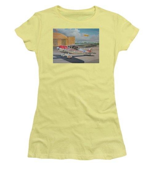 Cessna 195 Women's T-Shirt (Junior Cut) by Stuart Swartz