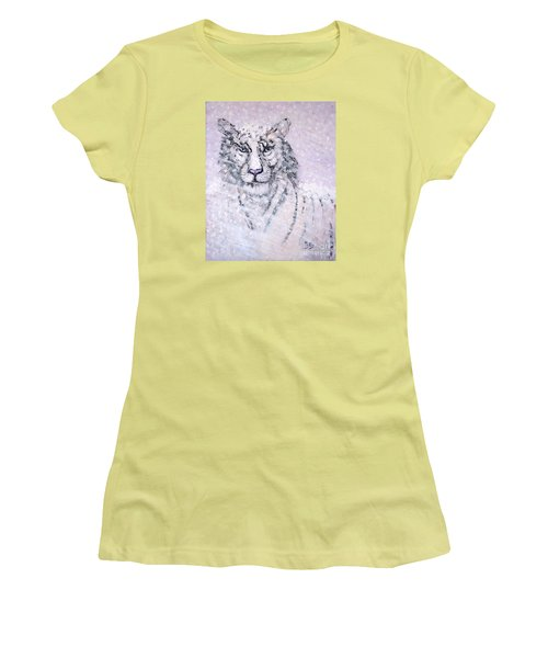 Women's T-Shirt (Junior Cut) featuring the painting Chairman Of The Board by Phyllis Kaltenbach