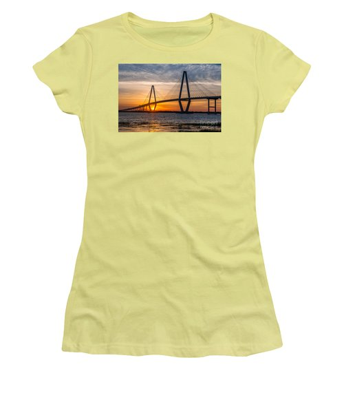 Charleston Sun Setting  Women's T-Shirt (Athletic Fit)