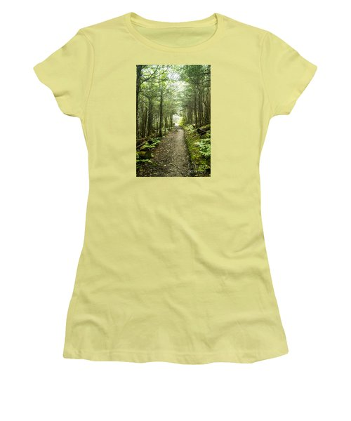 Women's T-Shirt (Junior Cut) featuring the photograph Charlies Bunion Bald Trail by Debbie Green