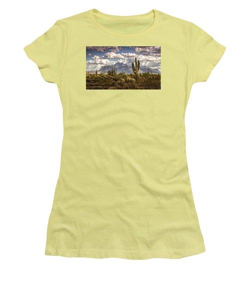 Chasing Clouds Two  Women's T-Shirt (Junior Cut) by Saija  Lehtonen