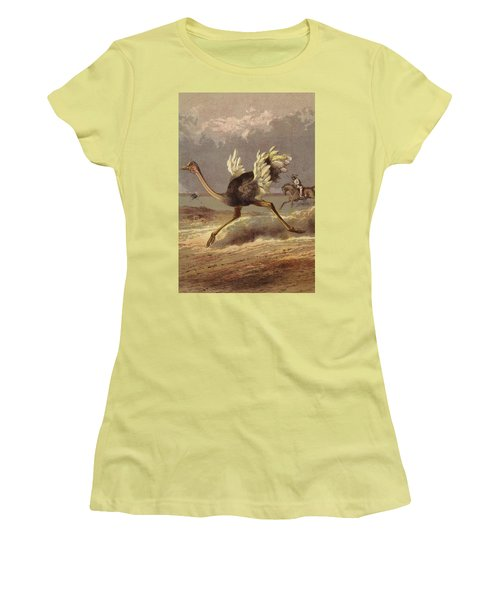 Chasing The Ostrich Women's T-Shirt (Athletic Fit)