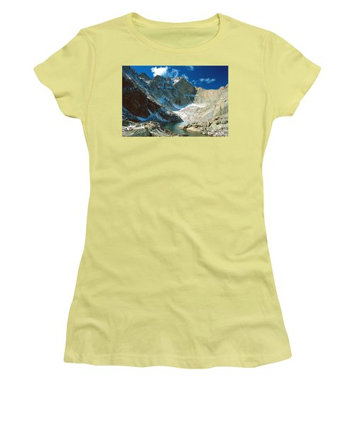 Chasm Lake Women's T-Shirt (Junior Cut) by Eric Glaser