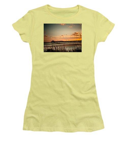 Cherry Grove Pier Myrtle Beach Sc Women's T-Shirt (Athletic Fit)