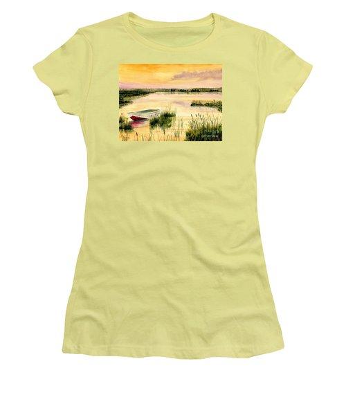 Chesapeake Marsh Women's T-Shirt (Junior Cut) by Melly Terpening