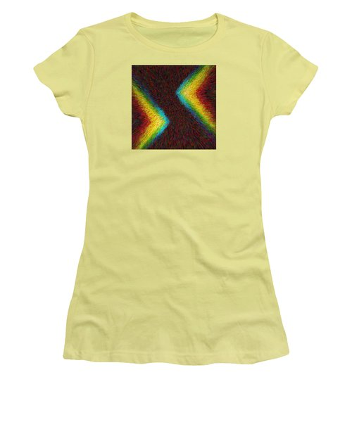 Chevron Double Rainbow C2014 Women's T-Shirt (Athletic Fit)
