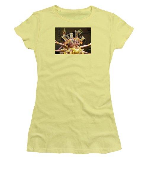 Chinese Dancers Perform Thousand Hands Guan Yin Women's T-Shirt (Junior Cut) by Lingfai Leung