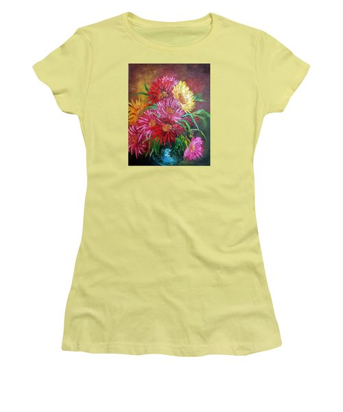 Chrysanthemum Women's T-Shirt (Athletic Fit)
