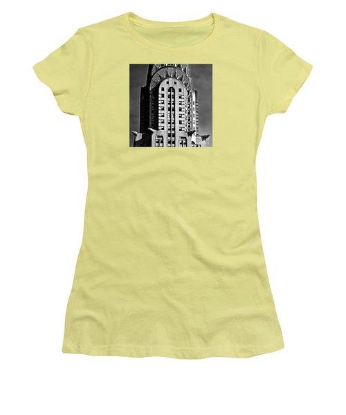 Chrysler Building Women's T-Shirt (Athletic Fit)
