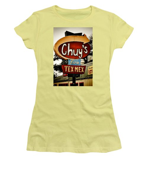 Chuy's Sign 2 Women's T-Shirt (Athletic Fit)