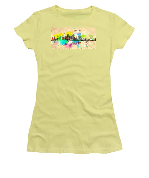 City Of Miami Grunge Women's T-Shirt (Athletic Fit)