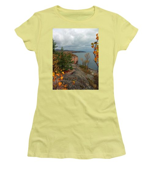 Cliffside Fall Splendor Women's T-Shirt (Athletic Fit)