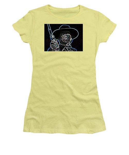 Women's T-Shirt (Junior Cut) featuring the painting Clint by Hartmut Jager