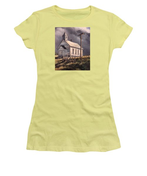 Closed On Sundays Women's T-Shirt (Junior Cut) by Donna Tucker
