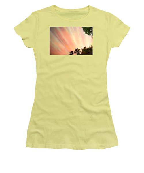 Women's T-Shirt (Junior Cut) featuring the photograph Cloud Streams by Charlotte Schafer