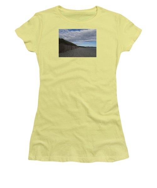 Clouded Beach Women's T-Shirt (Junior Cut) by Robert Nickologianis