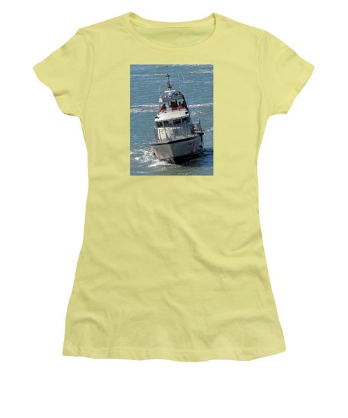Coast Guard At Depot Bay Women's T-Shirt (Athletic Fit)