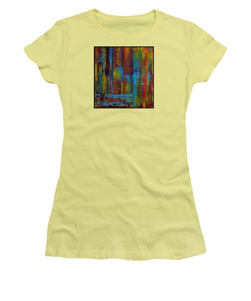 Color Burst Women's T-Shirt (Athletic Fit)