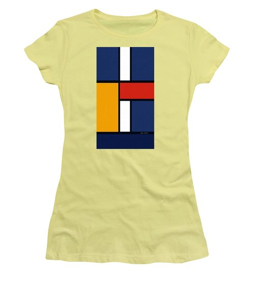 Color Squares - Mondrian Inspired Women's T-Shirt (Athletic Fit)