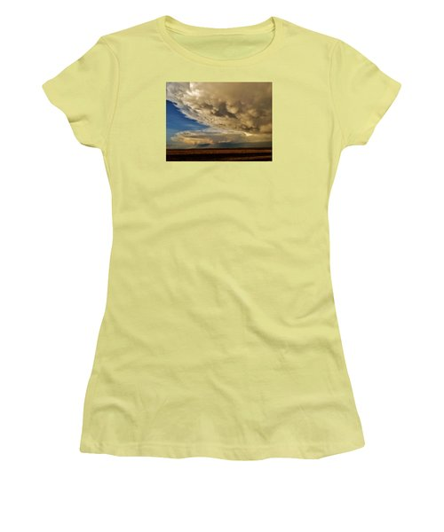 Women's T-Shirt (Athletic Fit) featuring the photograph Colorado Supercells by Ed Sweeney