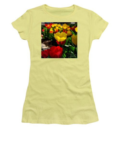 Colorful Spring Tulips Women's T-Shirt (Junior Cut) by Nava Thompson