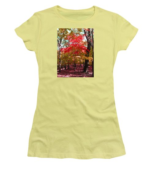 Colorful Woodland Women's T-Shirt (Athletic Fit)