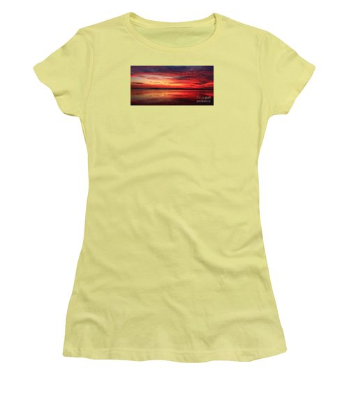 Women's T-Shirt (Athletic Fit) featuring the photograph Encinitas Twilight Tide by John F Tsumas
