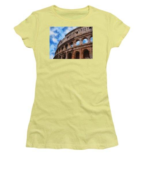 Colosseo Women's T-Shirt (Junior Cut) by Jeff Kolker
