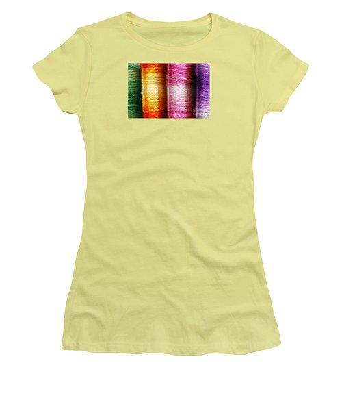 Colour Me Happy Women's T-Shirt (Junior Cut) by Wendy Wilton