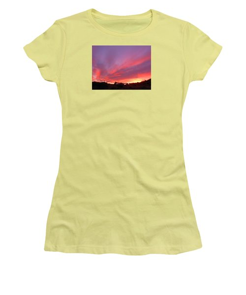 Colourful Arizona Sunset Women's T-Shirt (Athletic Fit)