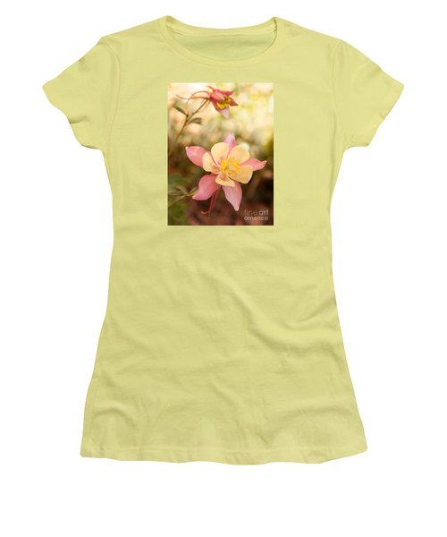 Women's T-Shirt (Junior Cut) featuring the photograph Columbine by Roselynne Broussard