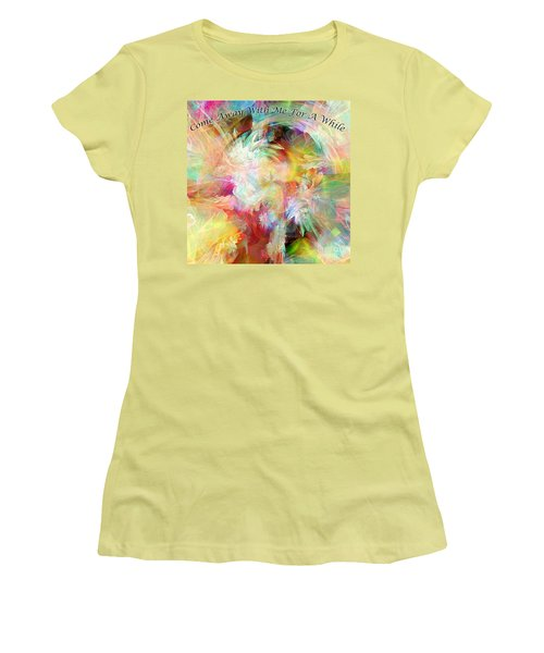 Women's T-Shirt (Junior Cut) featuring the digital art Come Away by Margie Chapman