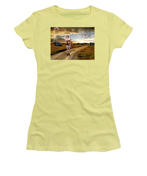 Women's T-Shirt (Junior Cut) featuring the photograph Coming Home by Ester  Rogers