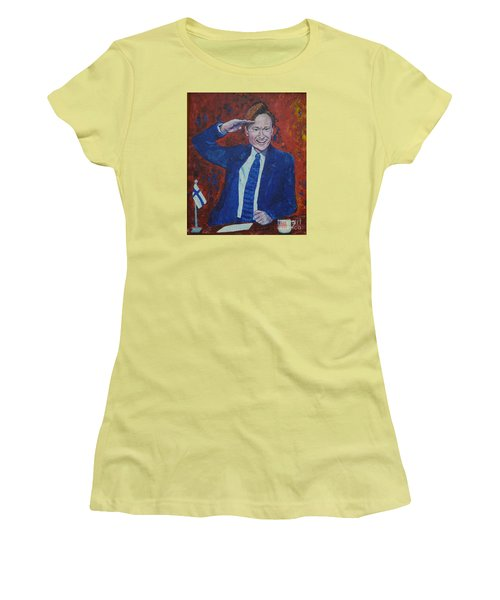 Conan O'brien Flagging Finland Women's T-Shirt (Athletic Fit)