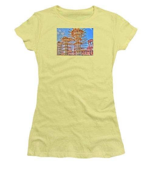 Women's T-Shirt (Junior Cut) featuring the pyrography construction whsd  Peterburg by Yury Bashkin