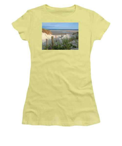 Women's T-Shirt (Junior Cut) featuring the photograph Cool Of Morning by Dianne Cowen