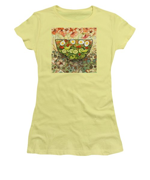 Cool Summer Salad Women's T-Shirt (Junior Cut) by Jen Norton