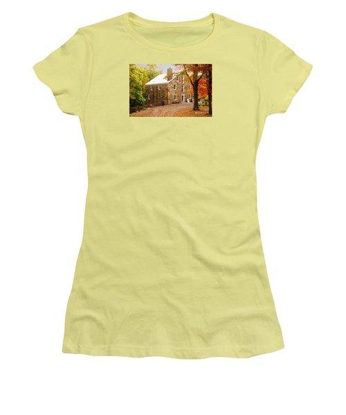 Cooper Gristmill Women's T-Shirt (Junior Cut) by Debra Fedchin