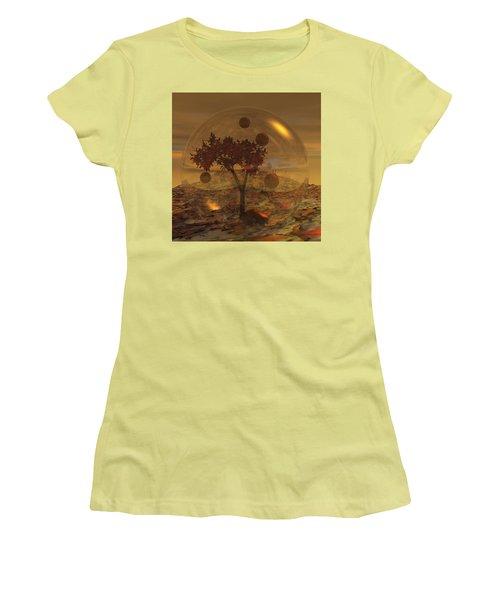 Copper Terrarium Women's T-Shirt (Junior Cut) by Judi Suni Hall