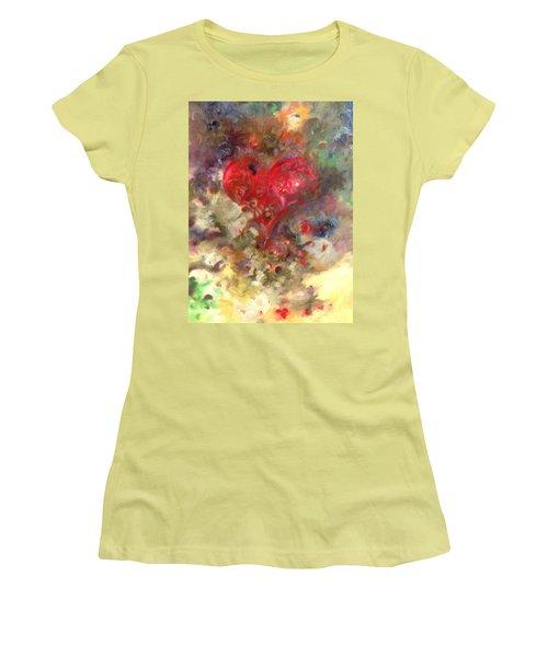 Corazon Women's T-Shirt (Junior Cut) by Julio Lopez