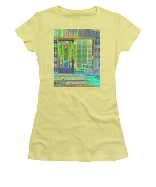 Cottage Porch Women's T-Shirt (Junior Cut) by Don and Judi Hall