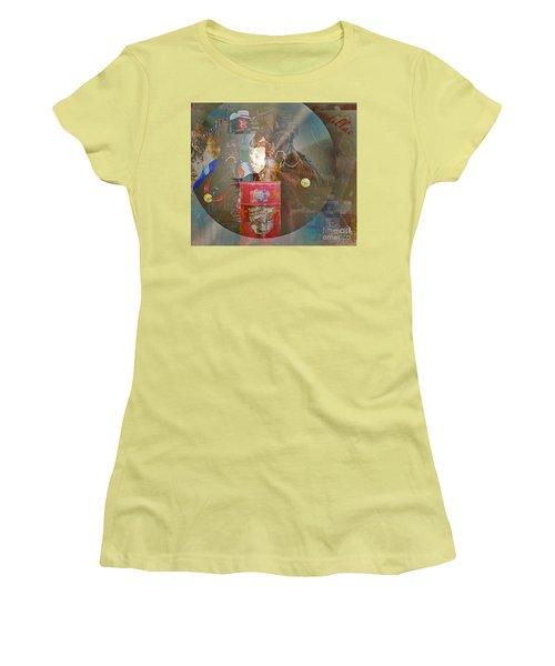 Cowgirl Cadillac Women's T-Shirt (Junior Cut) by Mayhem Mediums