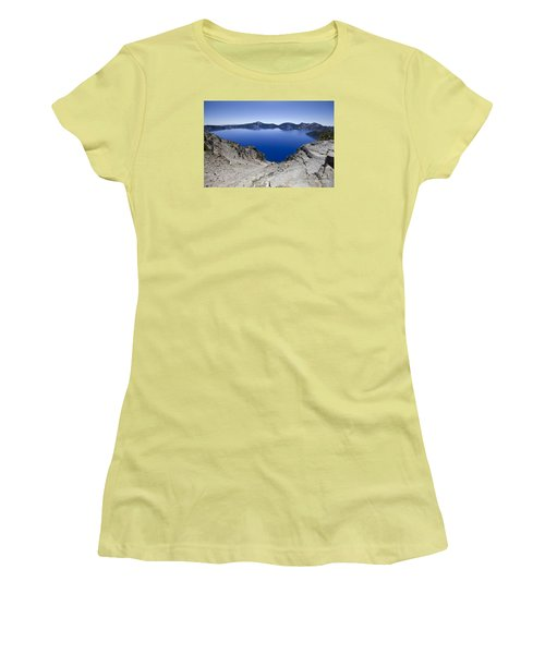 Women's T-Shirt (Junior Cut) featuring the photograph Crater Lake by David Millenheft