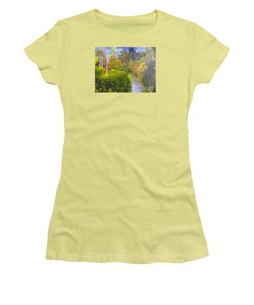 Creek In The Bush Women's T-Shirt (Junior Cut) by Pamela  Meredith