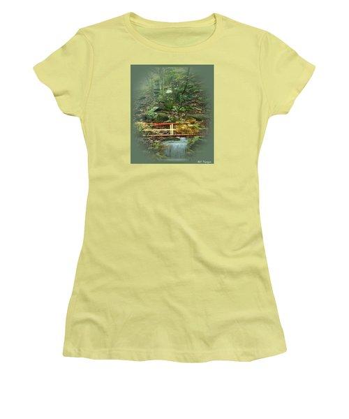 A Bridge To Cross Women's T-Shirt (Junior Cut) by Ray Tapajna