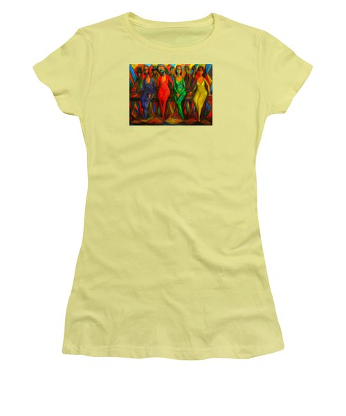 Cubism Dance  Women's T-Shirt (Athletic Fit)