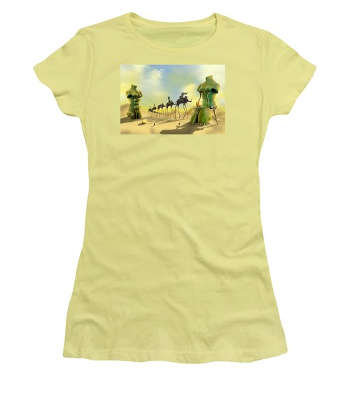 Dali On The Move  Women's T-Shirt (Athletic Fit)
